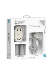 Matchstick Monkey Cool Grey Teething Starter Set