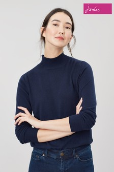 Joules Blue Orianna Roll Neck Jumper