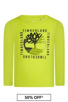 Boys Lime Organic Cotton Long Sleeve T-Shirt