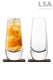 Set of 2 Whiskey Islay Mixer Glass by LSA International