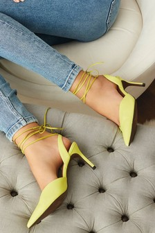 Ankle Wrap Slingback Shoes