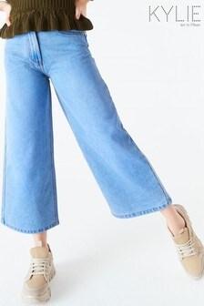 Kylie Blue Denim Culotte Jeans