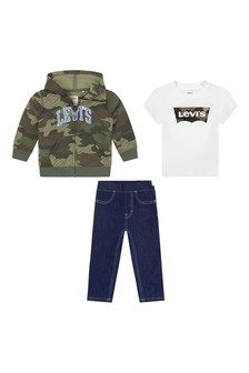 Baby Boys Camouflage Cotton Jeans Set