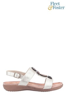 Fleet & Foster Cream Rosa Buckle Sandals