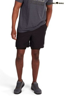 Raging Bull Black Performance 2 In 1 Shorts