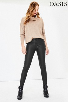 Oasis Black Coated Lily Jeans
