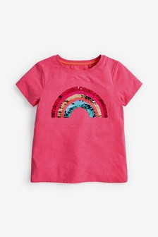 Flippy Sequin Rainbow T-Shirt (3-16yrs)