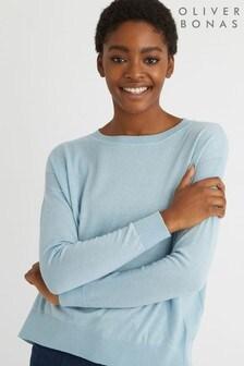Oliver Bonas Mimi Blue Knitted Jumper