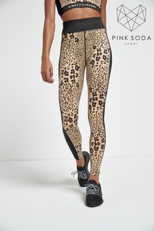 Pink Soda Boca Leopard Leggings