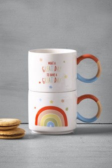 Set of 2 Rainbow Mugs