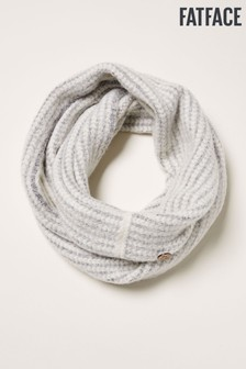 FatFace Grey Softie Textured Knit Snood
