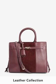 Leather Lock Established Tote Bag
