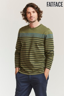FatFace Green Caldback Stripe T-Shirt