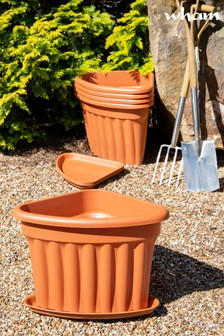 Set of 5 Vista 40cm Corner Tray And Garden Planters by Wham
