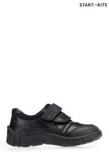Start-Rite Luke Black Leather Wide Fit Shoes