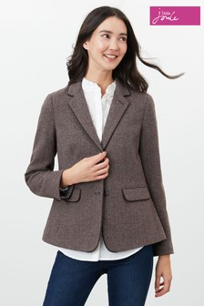Joules Brown Agatha Single Breasted Blazer