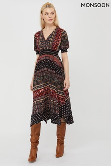 Monsoon Melinda Print Jersey Dress