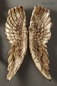 Antique Gold Angel Wings Wall Art by Pacific Lifestyle