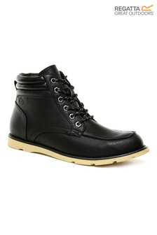 Regatta Black Robinson Lace-Up Boots
