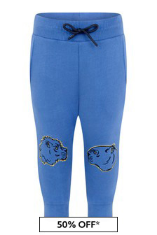 Boys Blue Cotton Joggers