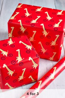 6M Giraffe Wrapping Paper