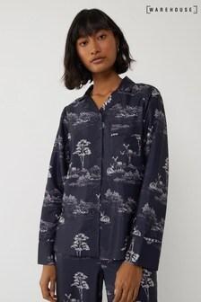 Warehouse Blue Woodland Pyjama Top