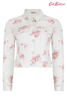Cath Kidston® Cream Lancing Roses Denim Jacket