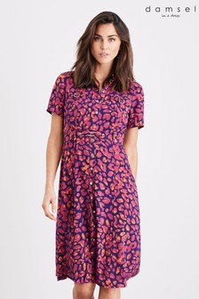 Damsel In A Dress Multi Leonore Leopard Trench Dress