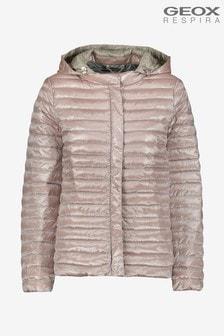 Geox Womens Jaysen Pink Hood Jacket