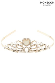 Monsoon Gold Macey Heart Tiara