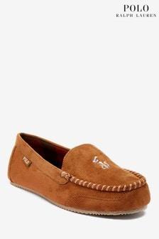 Polo Ralph Lauren Womens Dezi Plaid Lined Slippers