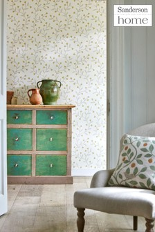 Sanderson Home Natural Everly Wallpaper