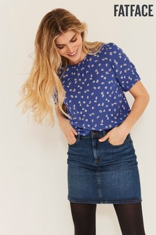 FatFace Blue Claire Daisy Ditsy Blouse