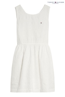 Tommy Hilfiger White Broderie Anglaise Dress