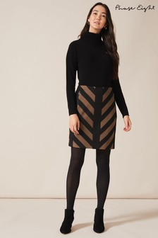 Phase Eight Black Mirren Chevron Skirt
