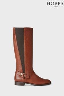 Hobbs Tan Nicole Buckle Boots