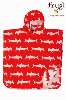 Frugi GOTS Organic Hooded Towel - Sharks