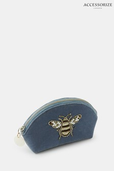 Accessorize Blue Bee Embellished Coin Purse