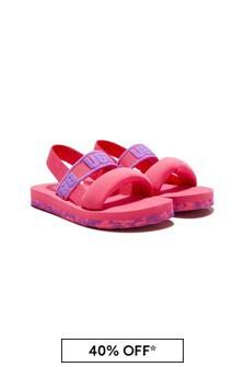 UGG Girls Pink Zuma Sling Sandals