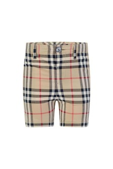 Baby Boys Beige Vintage Check Sean Shorts