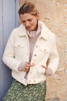 Faux Fur Lined Cord Jacket