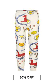 Mini Rodini Kids Cream Leggings