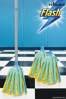 Flash Lightning Mop With 2 Mop Head Refills by Wham