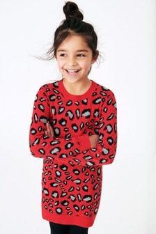 Animal Print Jumper Dress (3-16yrs)