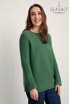 Seasalt Green Landscape Makers Jumper