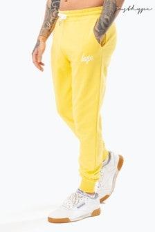 Hype. Yellow Script Mens Joggers
