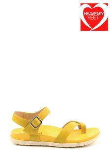 Heavenly Feet River Ladies Lemon Toe Loop Sandals