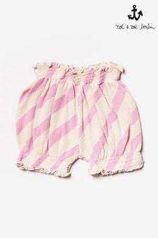 Noé & Zoë Pink Striped Shorts