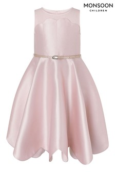 Monsoon Pink Shelley Scalloped Dress
