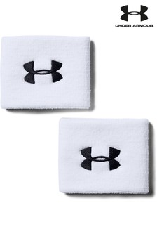 Under Armour White Performance Wristbands